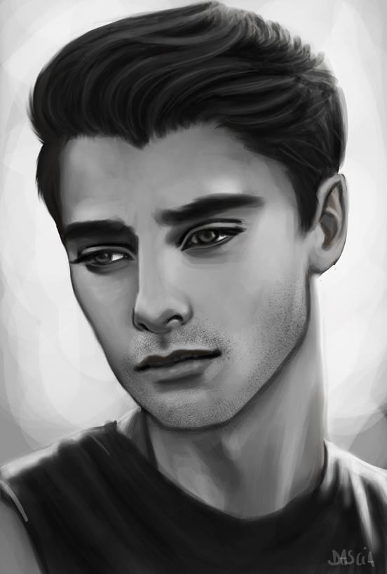 Male Portrait - Sketch by Manuzan on DeviantArt