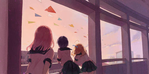 paper plane by tamomoko