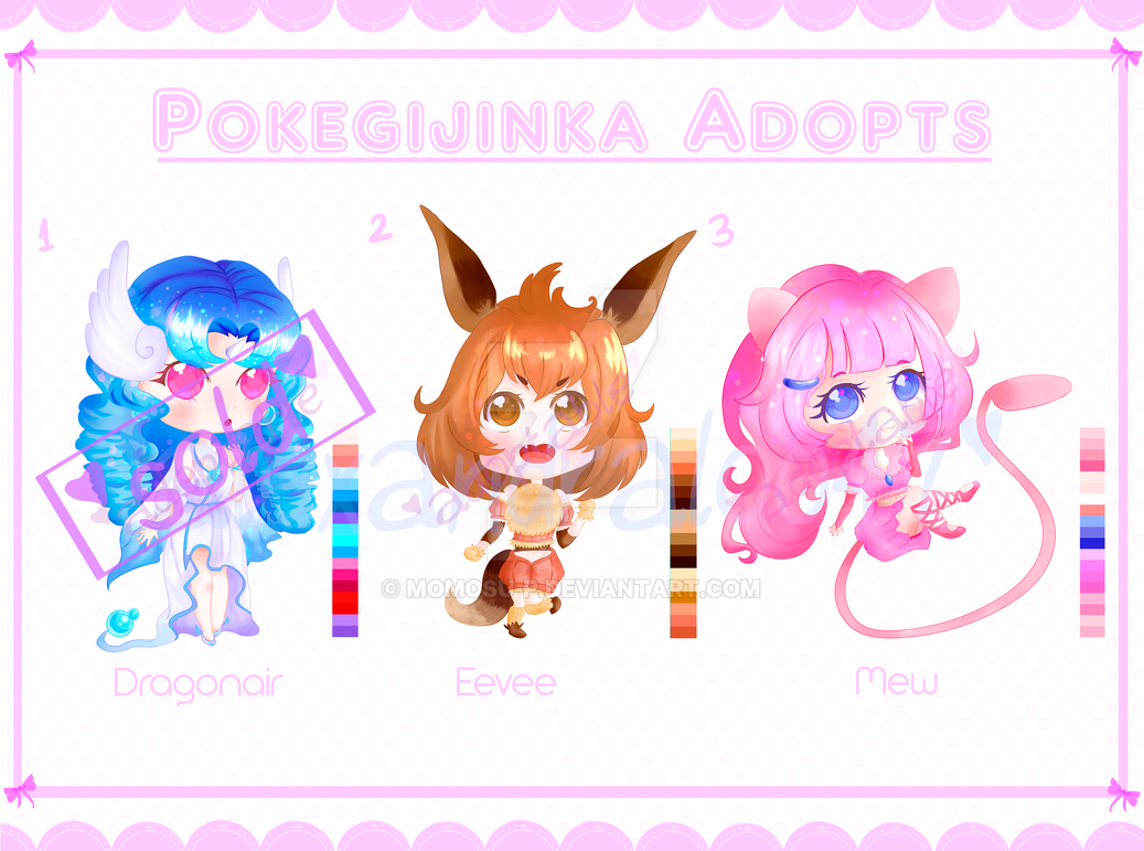 [AUCTION] PokeGijinka Adoptables! [OPEN 2/3] by alexandraloo47
