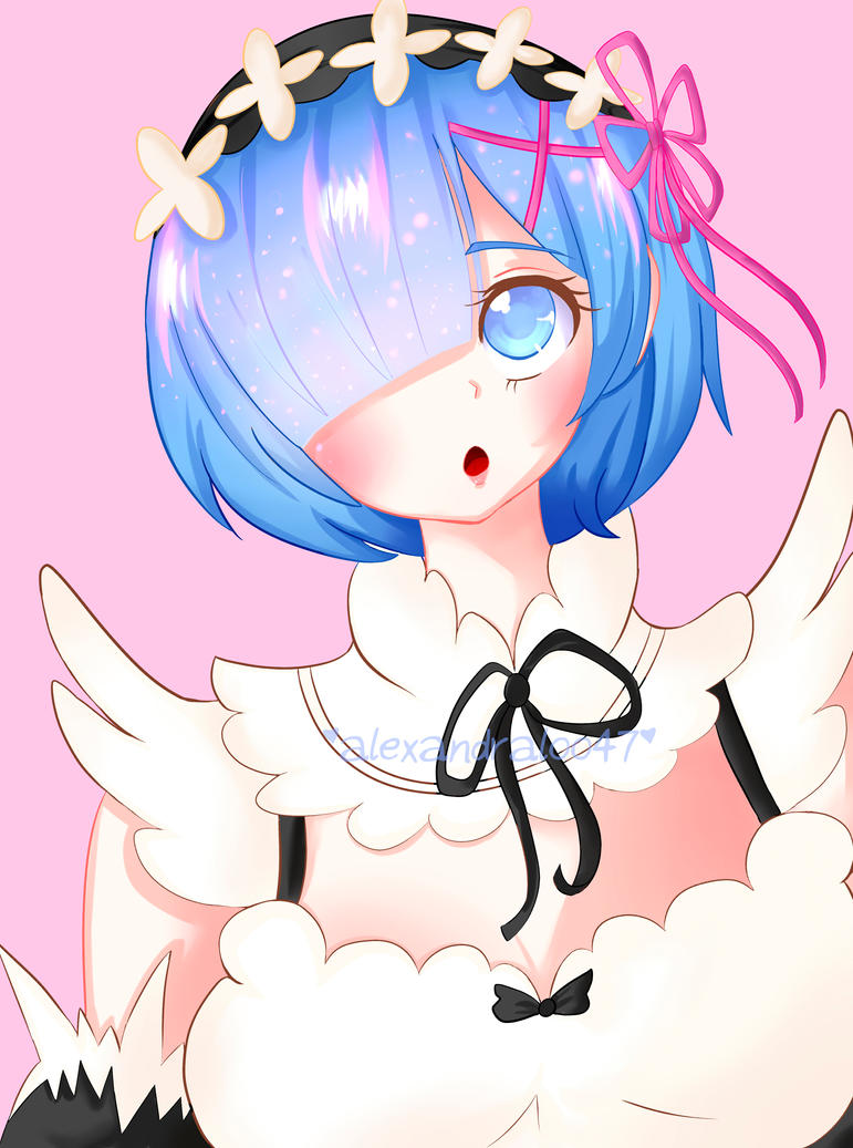 RE:ZERO - Rem (+Speedpaint) by alexandraloo47