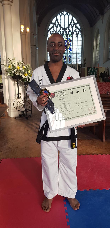 Got my Black Belt in Taekwondo by TEMPHUiBIS