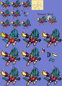 Awesomenauts Sprites - Leon Chameleon
