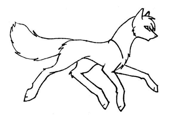 Simple Wolf Lineart : Easy wolf sketch drawing coloring page