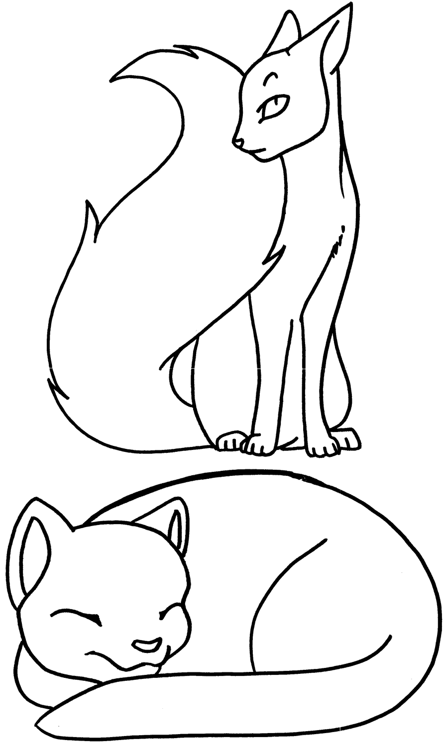 art therapy coloring pages cat - photo#25