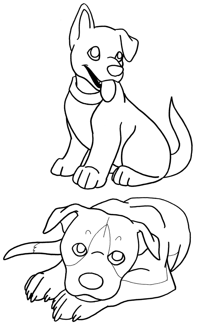 coloring pages puppies by terasullen on deviantart