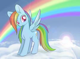 Regular Pony Drawing #4 - Rainbow Dash by Dusthiel