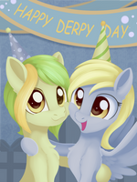 Derpy Day and Birthday by Dusthiel