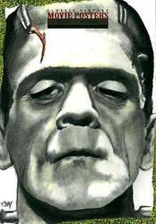 Frankenstein Sketch Card by Dr-Horrible