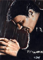 Angel Brooding -David Boreanaz by Dr-Horrible