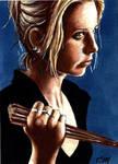 Buffy Wielding Stake