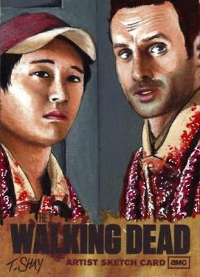 The Walking Dead Artist Proof Card