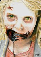 The Walking Dead  Little Girl Walker Sketch by Dr-Horrible