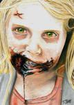 The Walking Dead  Little Girl Walker Sketch