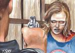 The Walking Dead Rick Shooting Sophia Sketch