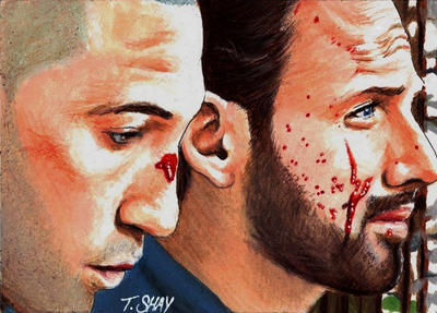 The Walking Dead Rick and Shane Post-Fight Talk by Dr-Horrible