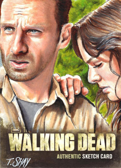The Walking Dead Season 2 Rick and Lori sketch by Dr-Horrible