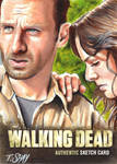 The Walking Dead Season 2 Rick and Lori sketch