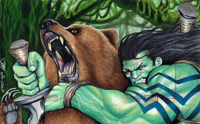 Marvel Skaar Artist Proof Puzzle Sketch by Dr-Horrible