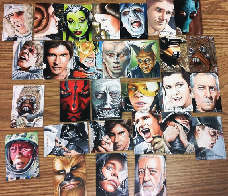 Star Wars Masterwork Sketch Cards by Dr-Horrible