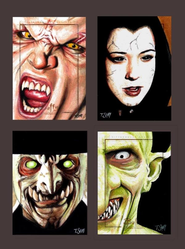 Buffy the Vampire Slayer Sketch Cards by Dr-Horrible