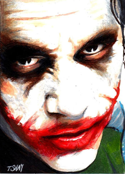 Joker sketch SDCC by Dr-Horrible