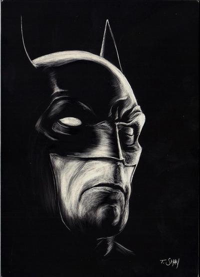 Batman Etching SDCC by Dr-Horrible