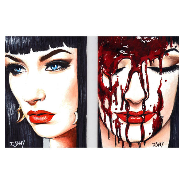 Vampirella Booklet Sketch Cards by Dr-Horrible