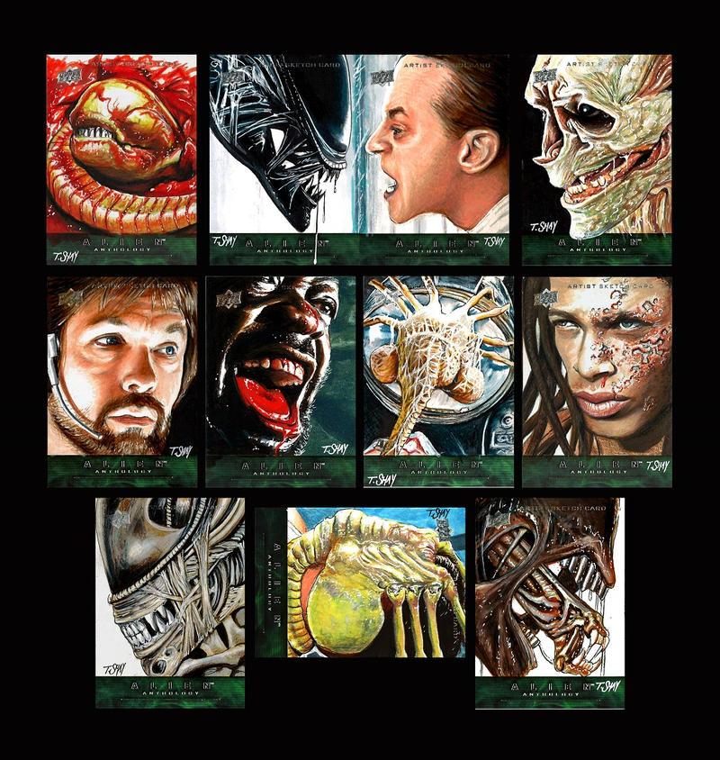 Alien Anthology Sketch Cards by Dr-Horrible