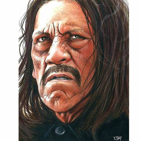 Danny Trejo Machete drawing by Dr-Horrible