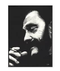 Lemmy Kilmister India Ink Etching