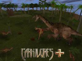 Carnivores + : Therizinosaurus vs Velociraptors by Keegz97