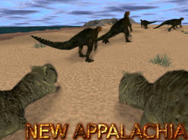 Carnivores New Appalachia : Iguanodons and Carnos by Keegz97
