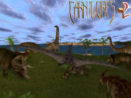 Carnivores Clash: Pteranodon fly by by Keegz97