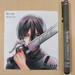 Tiny Mikasa Ackerman Drawing