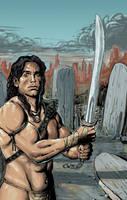 Barbarian warrior by TomaszWitas
