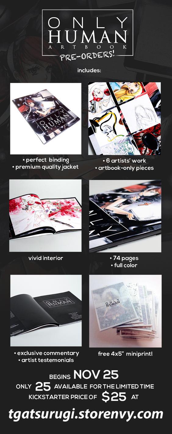 Only Human Artbook Preorder by TGA-Tsurugi