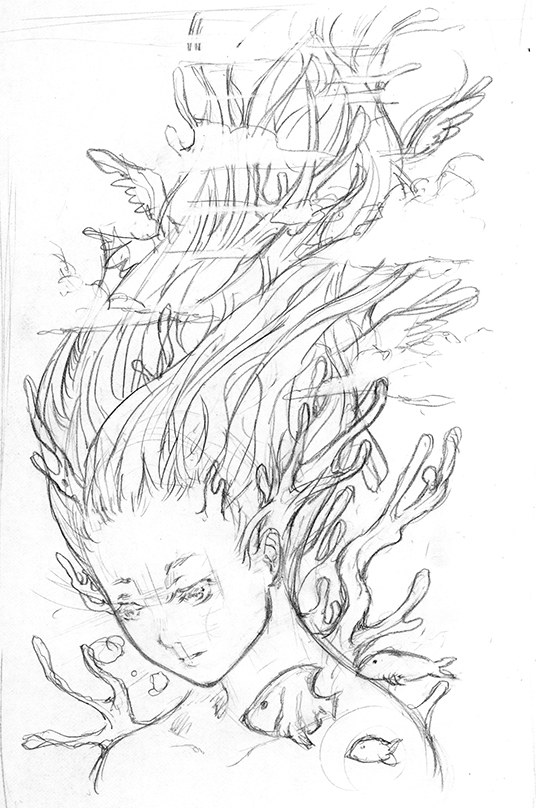 Daydream Artbook Concept Sketch - The Daydreamer by TGA-Tsurugi