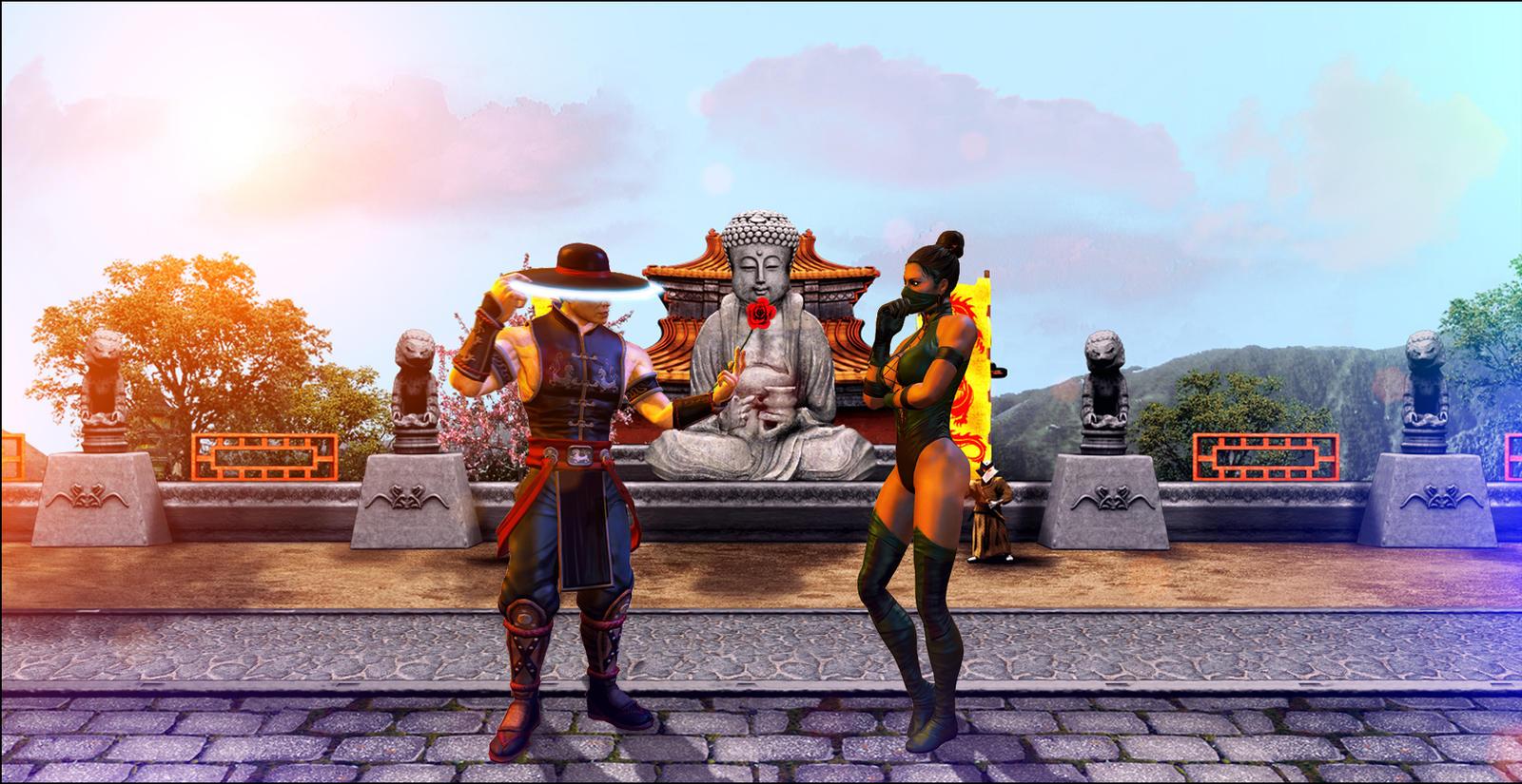 Kung-Lao and Jade by CJRus