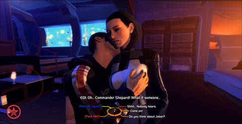 Shepard and EDI by CJRus