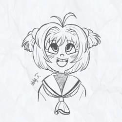 Sakura Sketch by AbbyMacaroni