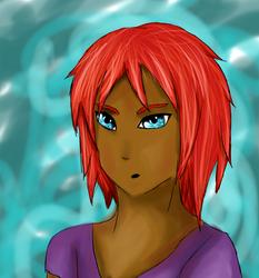 Redhead and Blue Eyes (Test) by Neutch