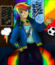 Human Rainbow Dash by Neutch