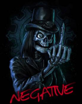 Negative tour shirt design