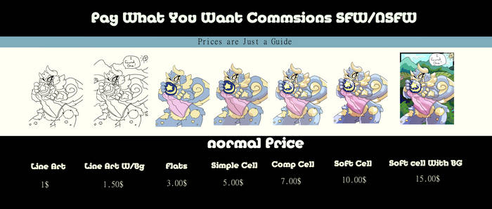 Pay What You Want Price Sheet Ref