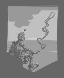 Smoking Robot by richtaur