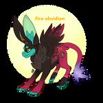 Fire obsidian gemmy OPEN