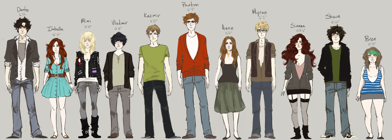 Character Height Chart by ghostbruises - 138.5KB