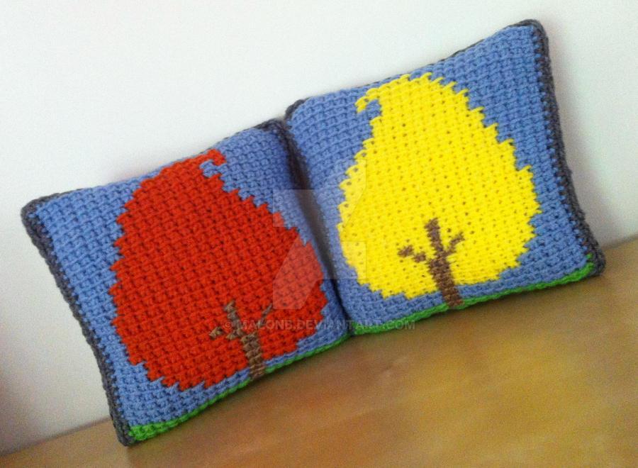 Little Trees Fall Set - Tunisian Crochet by MalonB