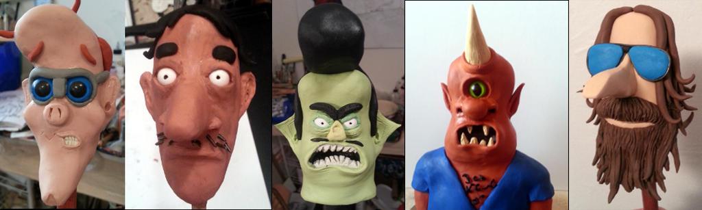 Head Sculpts So Far by Troy-Stith