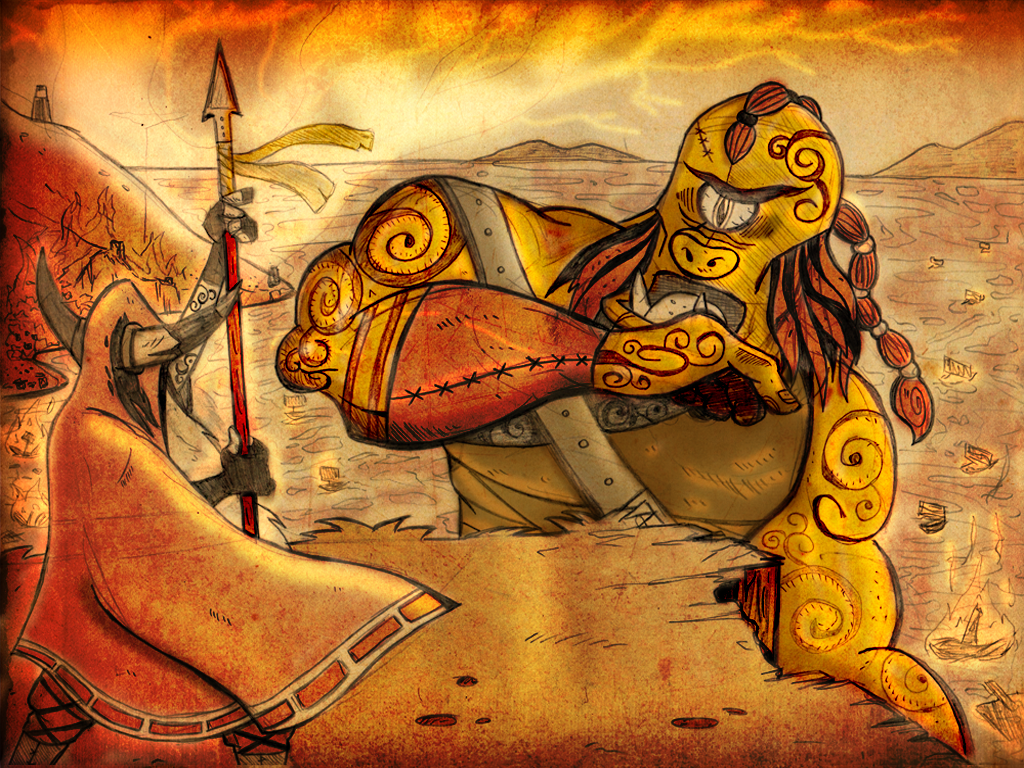 The Irish in Stories - Lugh vs Balor Picture, The Irish in ...  Balor Myth